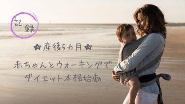 産後5カ月☆赤ちゃんとウォーキングでダイエット本格始動【記録】