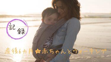 産後6カ月☆赤ちゃんとウォーキング【記録】