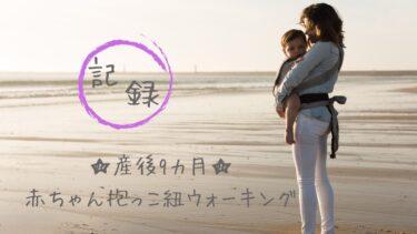 産後9カ月☆赤ちゃん抱っこ紐ウォーキング【記録】