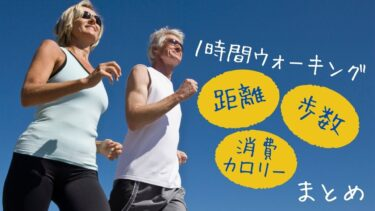 【保存版】ウォーキング1時間の距離/消費カロリー/歩数のまとめ♪