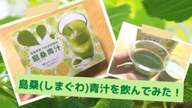 【話題の桑の葉茶】島桑(しまぐわ)青汁を飲んでみた!口コミレビュー