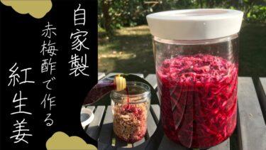 【初心者でも簡単】赤梅酢で自家製紅生姜の作り方/レシピ